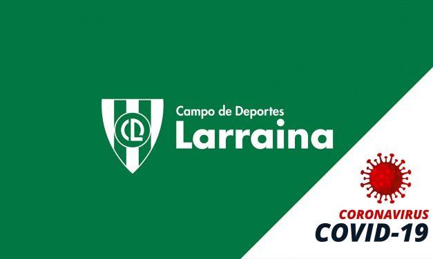 COMUNICADO A LOS SOCIOS DEL CLUB DEPORTIVO LARRAINA DEL 12 DE MAYO
