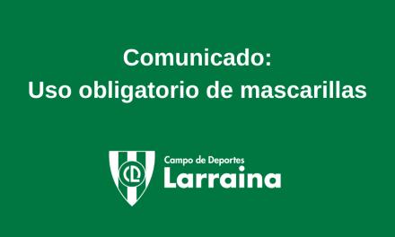 Comunicado: uso obligatorio de mascarilla