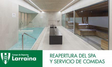 Comunicado: Apertura del spa y servicio de comidas del Club