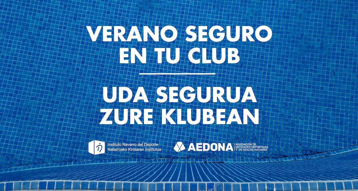Campaña 'Verano seguro en tu club' de AEDONA