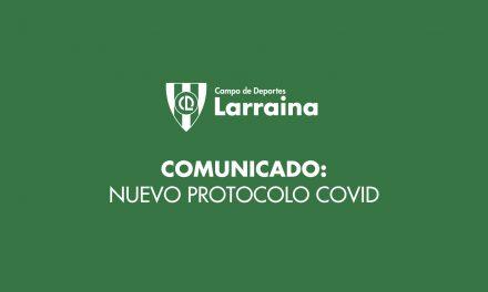 Nuevo protocolo del club (14 de octubre de 2020)