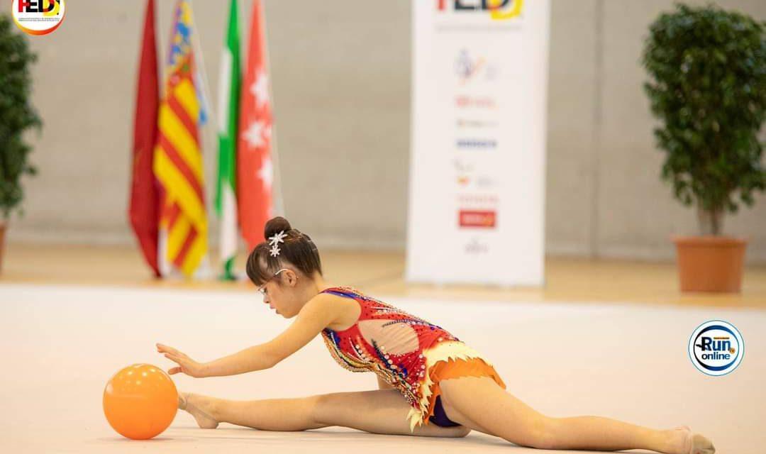 Quinto puesto para Nerea Díaz en el Campeonato de España de Gimnasia rítmica adaptada