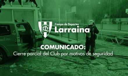 Comunicado: cierre parcial del Club tras apagar un incendio en la zona de vestuarios y spa
