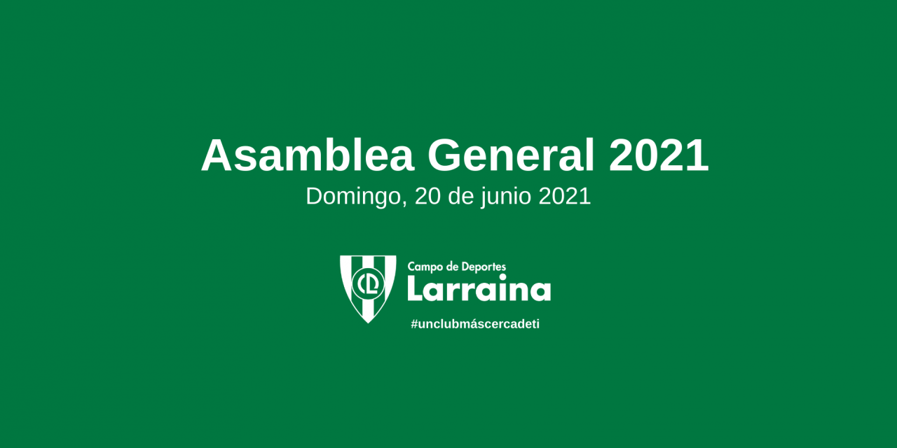 Convocada la Asamblea General 2021